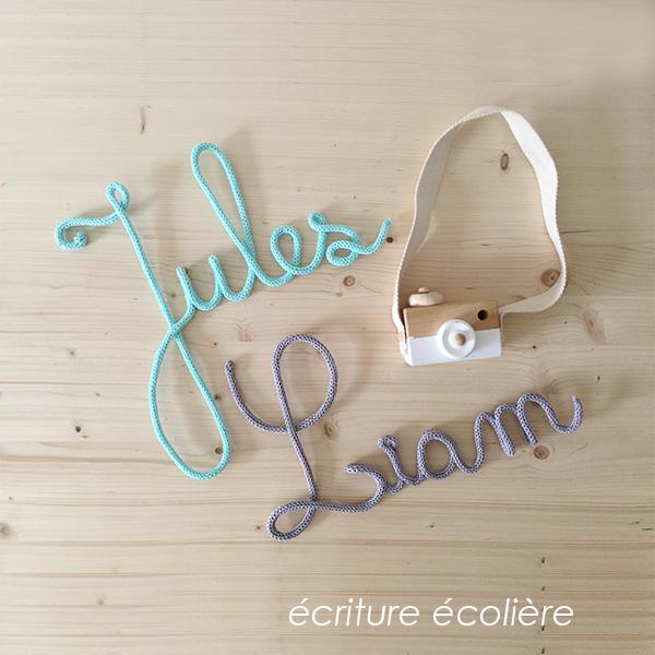 d402da4ee20cf Prénom en tricotin seul - Douces Lettres