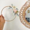 cercle fleuris bois fleurs papier