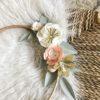 cercle prénom tricotin fleurs artificielle